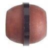 "Resin Bead Barrel 18x20mm 8"" Str (Approx. 11pcs) Brown/Black"
